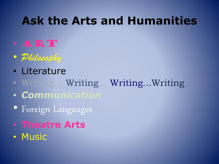 Ask the Arts and Humanities