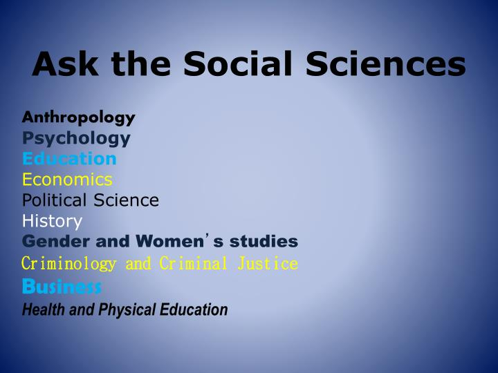 Ask the Social Sciences