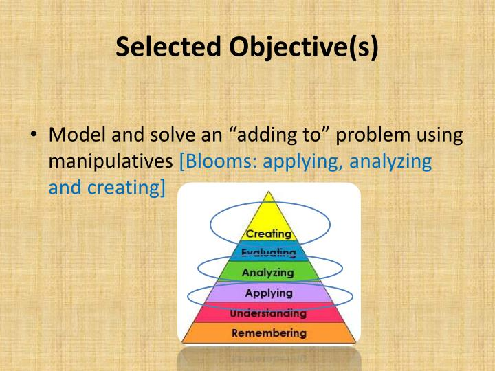Selected Objective(s)