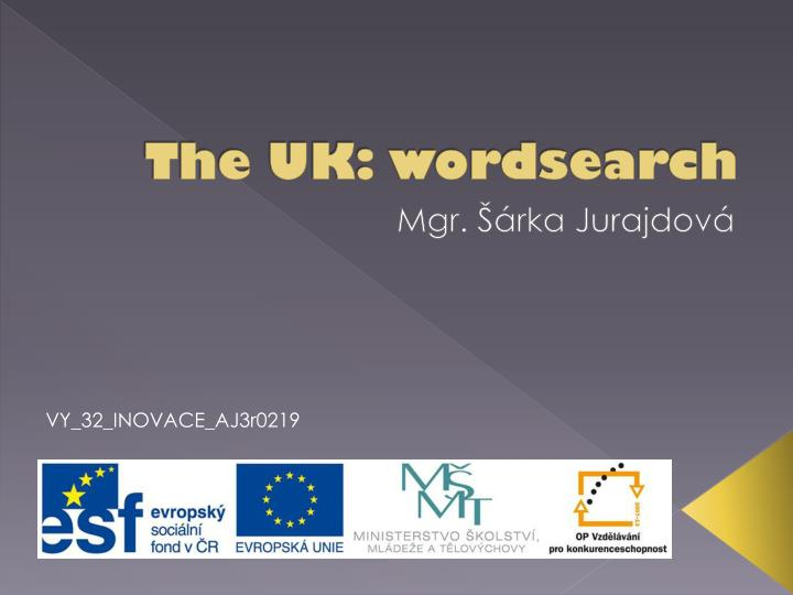 The UK: wordsearch