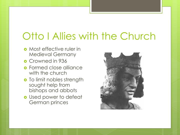 Otto I Allies with the Church