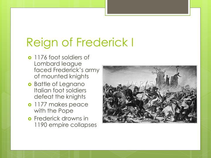 Reign of Frederick I