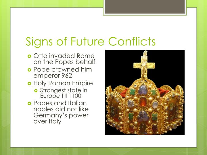 Signs of Future Conflicts