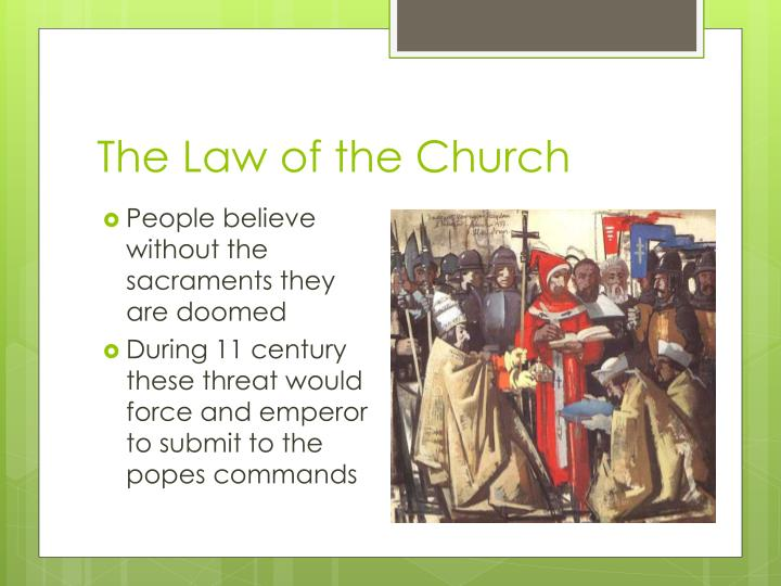 The Law of the Church