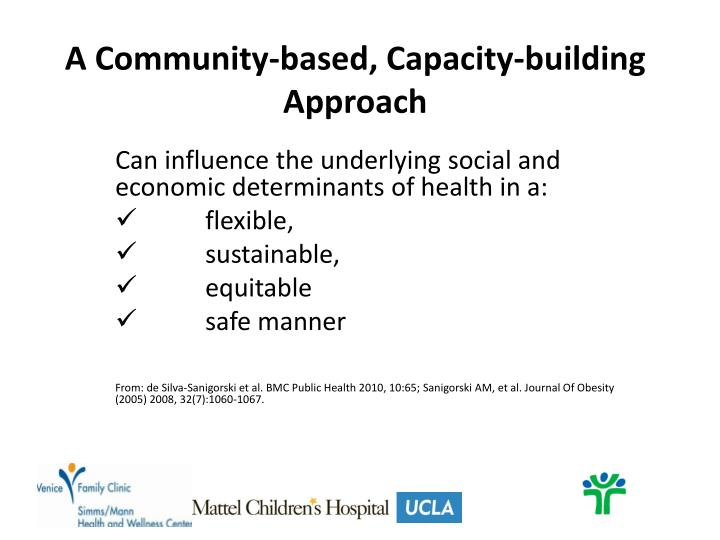 A Community-based, Capacity-building Approach