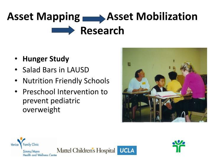 Asset Mapping          Asset Mobilization