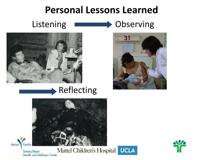 Personal Lessons Learned