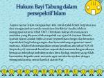 hukum bayi tabung dalam persepektif islam