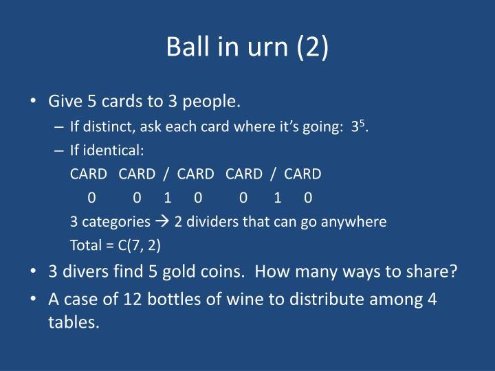 Ball in urn (2)