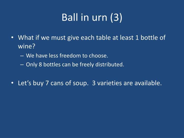 Ball in urn (3)
