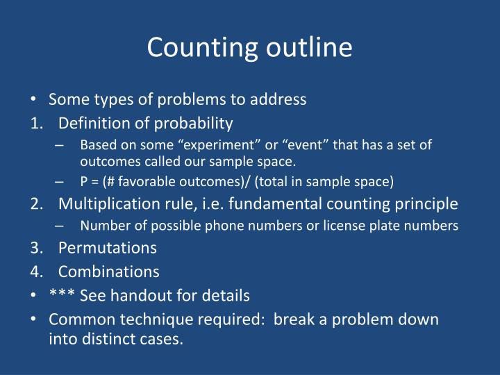 Counting outline