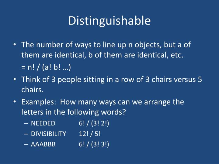 Distinguishable