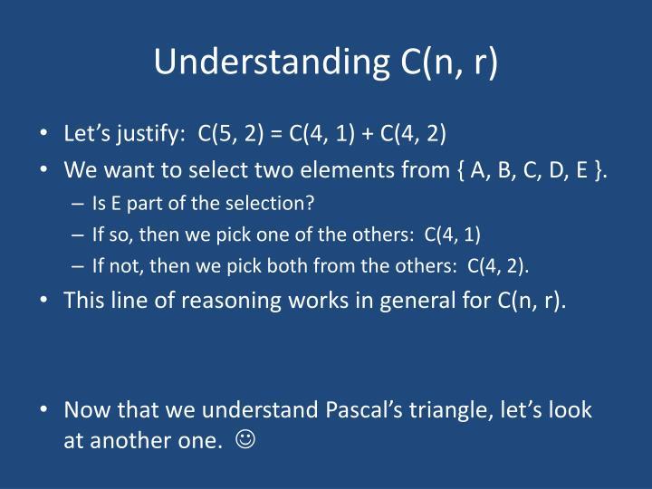 Understanding C(n, r)