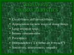 behavior characteristics1