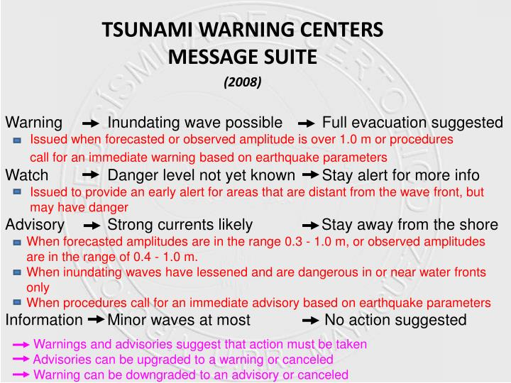 Warning  Inundating wave possible