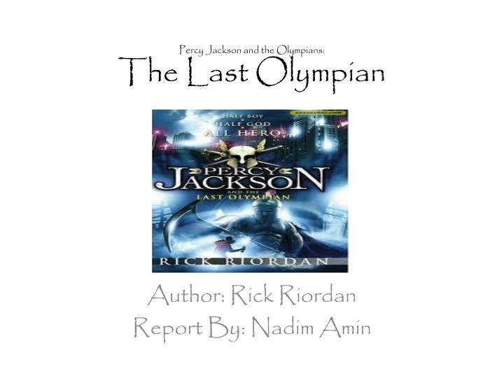 Free download percy the ebook last jackson olympian
