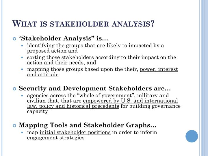 What is stakeholder analysis