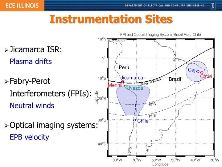Instrumentation Sites