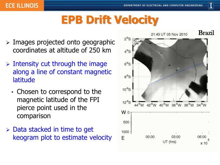 EPB Drift Velocity