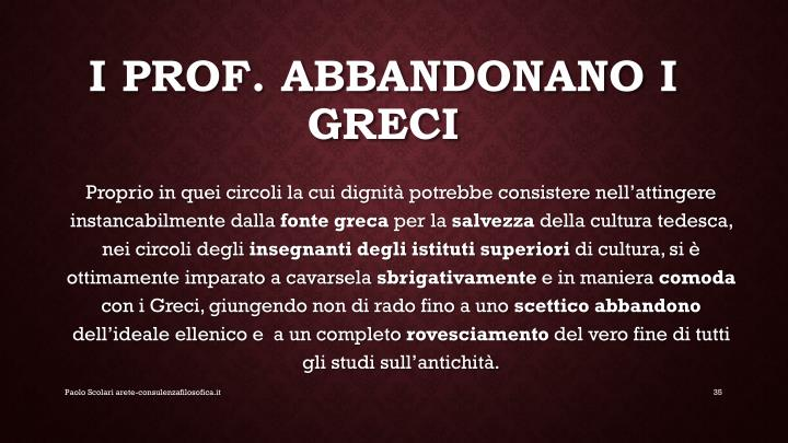 I prof. Abbandonano i greci
