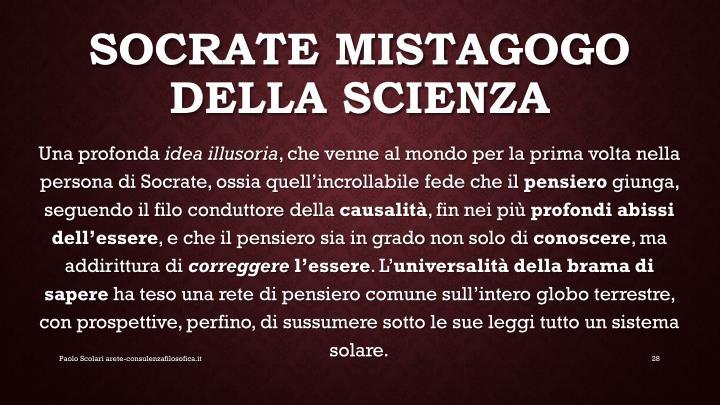 Socrate mistagogo della scienza