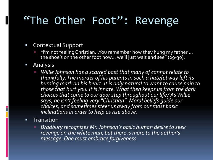 """The Other Foot"": Revenge"