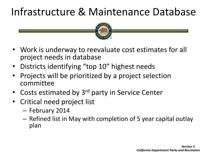 Infrastructure & Maintenance Database