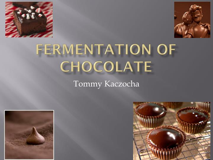 Fermentation of chocolate