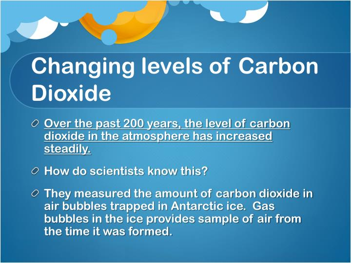 Changing levels of Carbon Dioxide