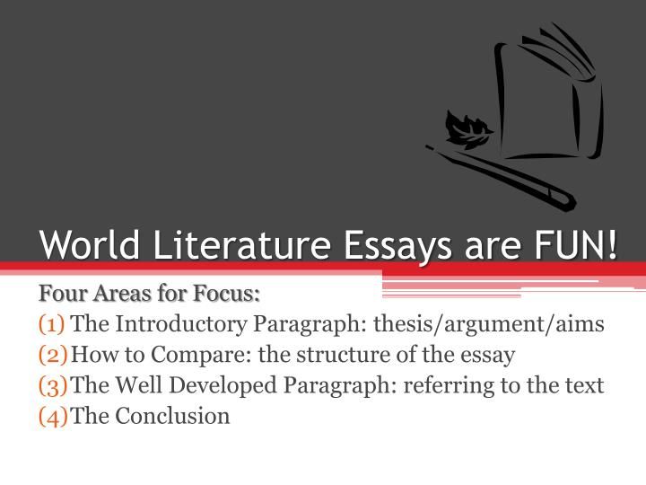 World Literature Essay Topics