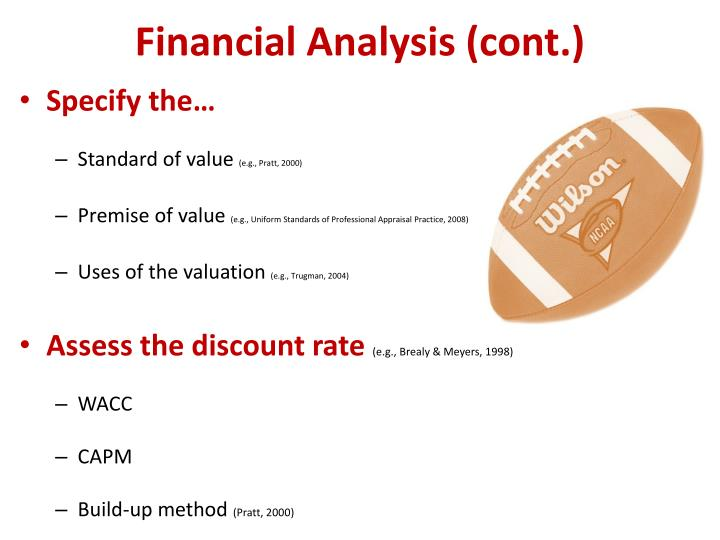 Financial Analysis (cont.)