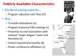 publicly available characteristics