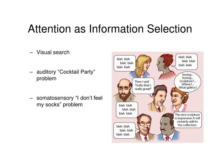 Attention as Information Selection