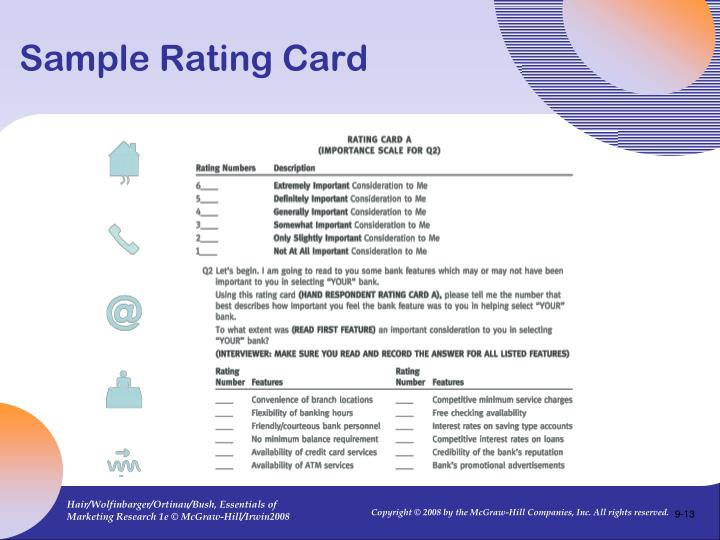 Sample Rating Card