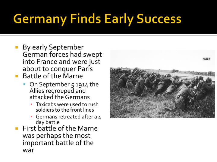 Germany Finds Early Success