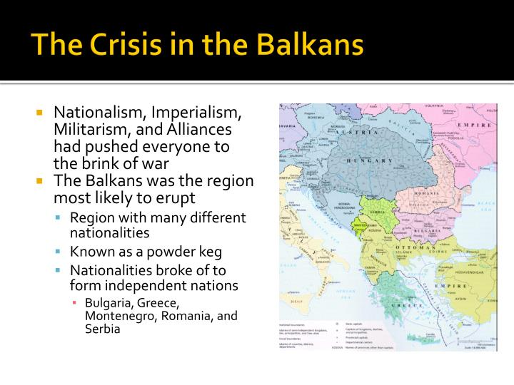 The crisis in the balkans