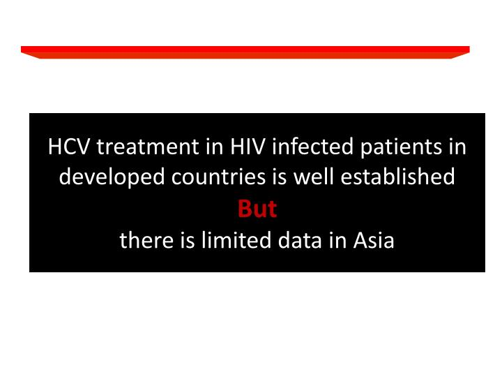HCV treatment in HIV infected patients in developed countries is well established