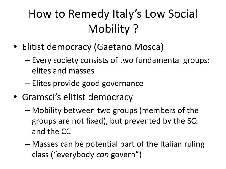 How to Remedy Italy's Low Social Mobility ?