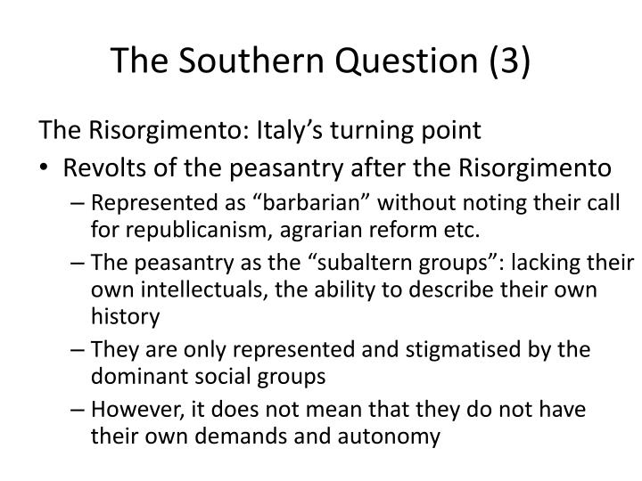 The Southern Question (3)