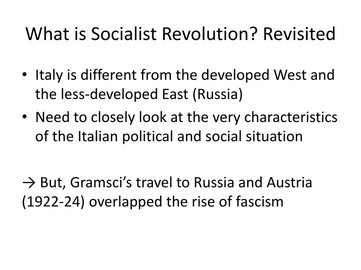 What is Socialist Revolution? Revisited