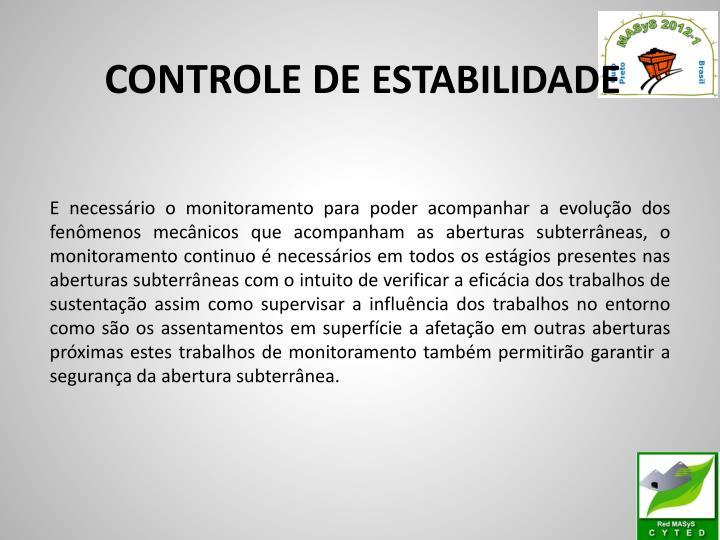 CONTROLE DE