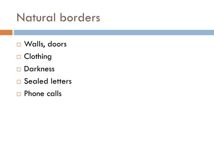 Natural borders