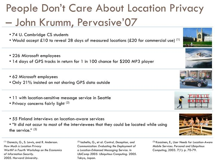 People Don't Care About Location Privacy – John