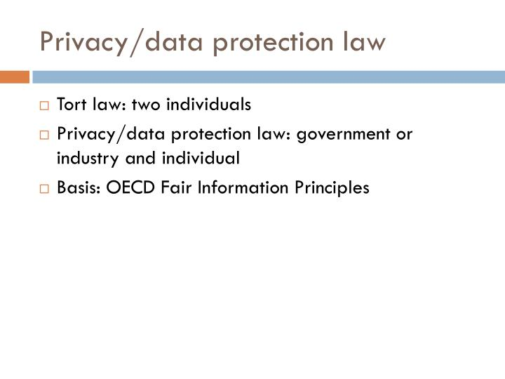 Privacy/data protection law