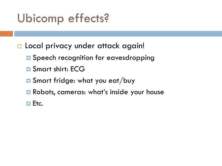 Ubicomp effects?