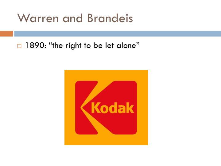 Warren and Brandeis
