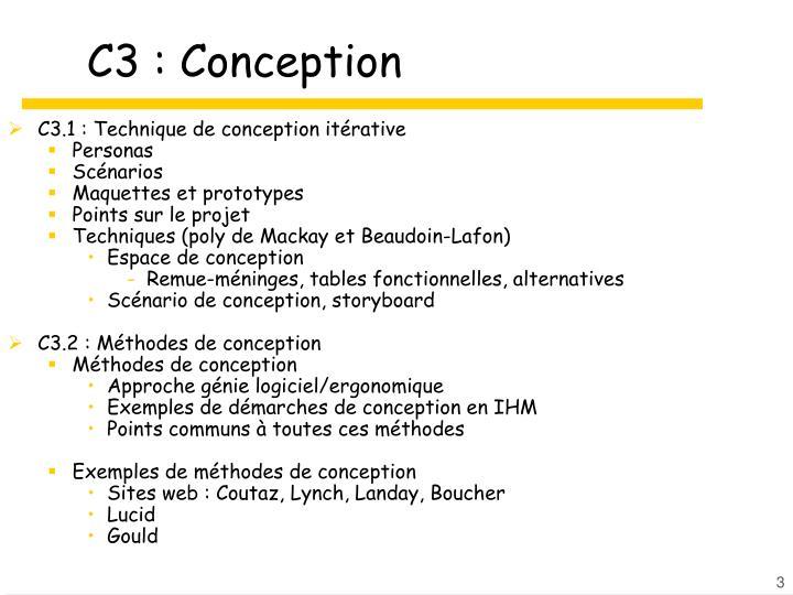 C3 : Conception