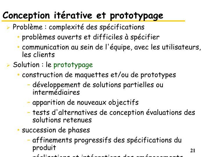 Conception itérative et prototypage
