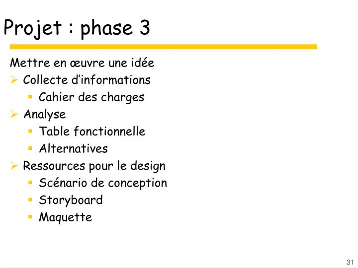 Projet : phase 3