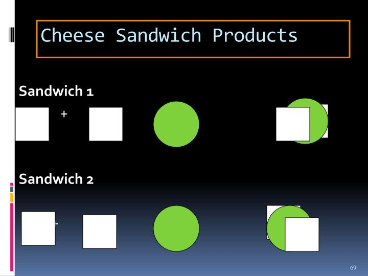 Cheese Sandwich Products